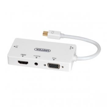 Unitek Adaptor miniDisplayPort - HDMI/DVI/VGA/Audio, Y-6354