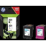 HP 301 2-pack Black/Tri-color