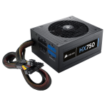 Corsair Power Supply HX750, 750W, 80 PLUS® Platinum, 135mm fan, modular PSU