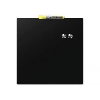NOBO Panou Quartet 36x36 cm, negru, magnetic, cu stergere uscata