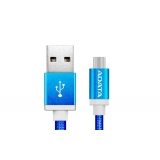 ADATA cable USB type-A , charge and sync data on Android, blue