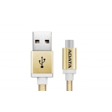 ADATA cable USB type-A , charge and sync data on Android, gold