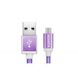 ADATA cable USB type-A , charge and sync data on Android, purple