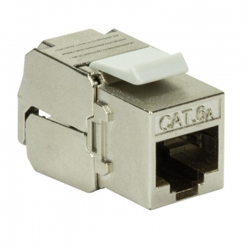 LOGILINK - Keystone Jack Cat.6A STP180°, Punch-down & Tool-free