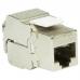 LOGILINK - 24 x Keystone Jack RJ45 Cat.6A 10G Fully Shielded 180° tool free