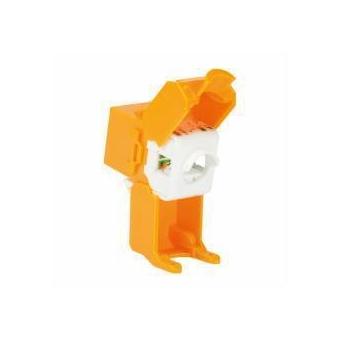 LOGILINK - 48 x Keystone Jack RJ45 Cat.6A UTP 180° tool free, orange