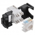 LOGILINK - Keystone Jack RJ45 Cat.6 Unshielded 180° tool free, black