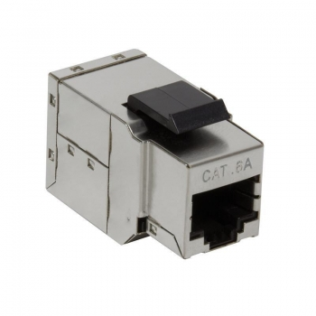 LOGILINK - Keystone Inline Coupler 2xRJ45 Cat.6A STP, snap-in mounting