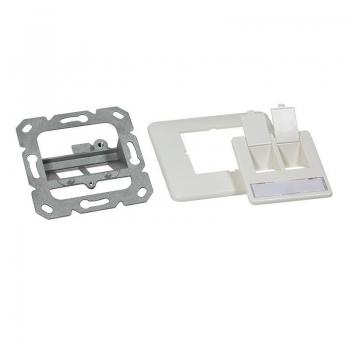 LOGILINK- Keystone Faceplate for 2 Keystone Jacks, pure white