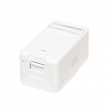 LOGILINK- Keystone Surface Mounted Box 1 port UTP, white
