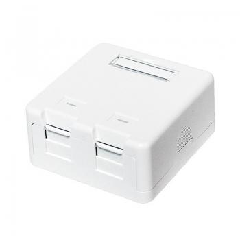 LOGILINK- Keystone Surface Mounted Box 2 port UTP, white