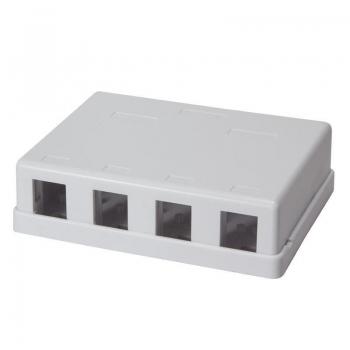 LOGILINK- Keystone Surface Mount Box 4 port UTP, white, blank