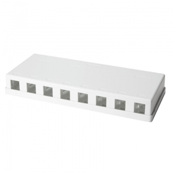 LOGILINK- Keystone Surface Mount Box 8 port UTP, white, blank
