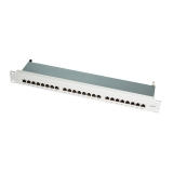 LOGILINK- Patch Panel 19'-mounting Cat.6 STP 24 ports, grey