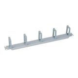 LOGILINK- 19'' Cable Management Bar 1U with 5 turnable plastic brackets, grey