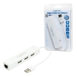 LOGILINK - USB 2.0 to Fast Ethernet Adapter with 3-Port USB Hub
