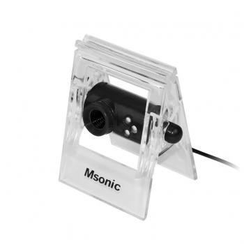 MSONIC Webcam cu microfon USB 2.0, 3 led, MR1803K negru