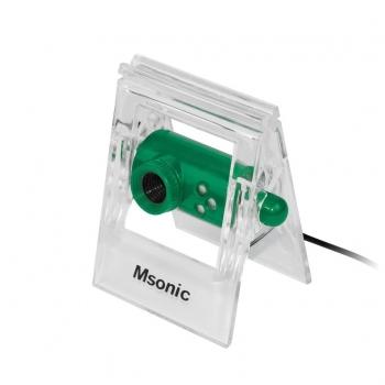 MSONIC Webcam cu microfon USB 2.0, 3 led, MR1803E verde
