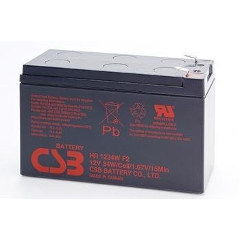 CSB kit 2 rechargeable batteries HR1234W 12V/9Ah