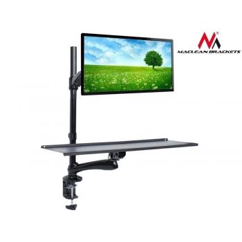 Maclean MC-681 Single Monitor Sit-Stand Workstation Screen Keyboard Arm Bracket