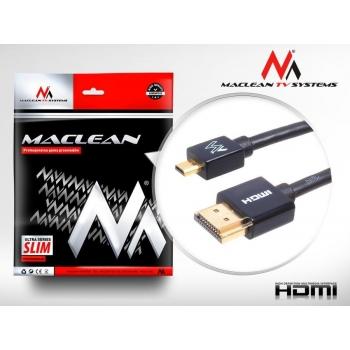Maclean MCTV-721 1m HDMI-microHDMI SLIM v1.4