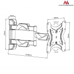 Maclean MC-742 Wall bracket for TV or monitor 13-42 '' 25kg black