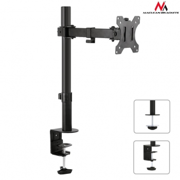 Maclean MC-752 Monitor desk bracket 13-32'' 8kg vesa 75x75, 100x100 single arm