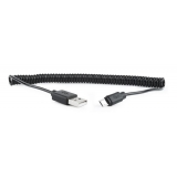 Gembird micro USB cable 2.0 coiled cable black 1,8m