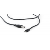 Gembird Double-sided Micro-USB to USB 2.0 AM cable, 1.8 m, black, blister