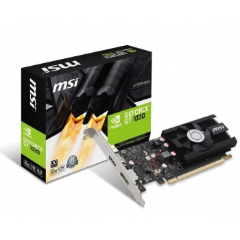 Placa video MSI nVidia GeForce GT 1030 2GB GDDR5 64bit PCI-E x16 3.0 HDMI DisplayPort GT 1030 2GH LP OC