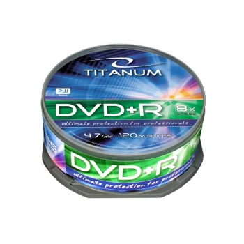 DVD+R TITANUM [ cake box 25 | 4.7GB | 8x ]