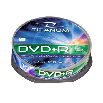 DVD+R TITANUM [ cake box 10 | 4.7GB | 8x ]