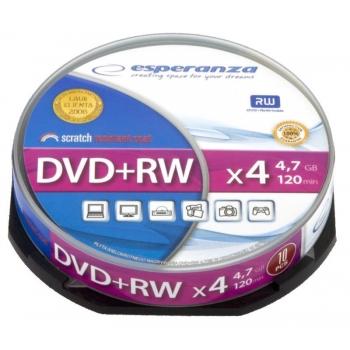 DVD+RW ESPERANZA [ cake box 10 | 4.7GB | 4x ]