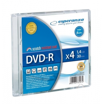 Mini DVD-R ESPERANZA 1,4GB x4 - Slim 1