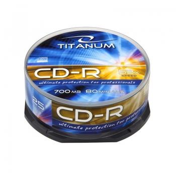 CD-R TITANUM [ 25ks/kr., 700MB, 52x, cake box ]