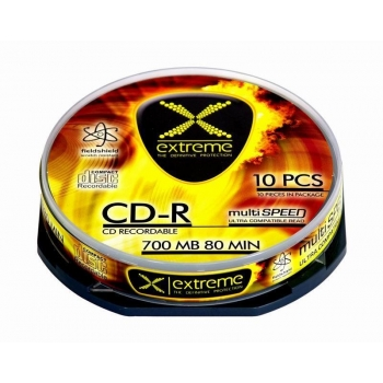 CD-R Extreme [ cake box 10 | 700MB | 52x ]