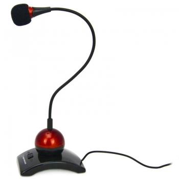 Microfon Esperanza EH130 switch ON-OFF black-red 5905784769035