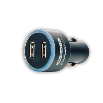 ESPERANZA Incarcator auto - 2 x USB   DC 12/24V   5V   1000mA