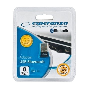 ESPERANZA Adaptorul Bluetooth USB EA101 2.1 + EDR | Mini | Clasa 2