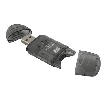 TITANUM Cititor de card SDHC/MiniSDHC/MicroSDHC/RS/MM TA101K negru USB 2.0