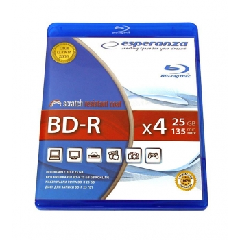BluRay BD-R ESPERANZA [ BOX 1 | 25GB | 4x ]