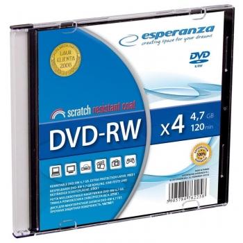 DVD-RW ESPERANZA [ slim jewel case 1 | 4.7GB | 4x ]