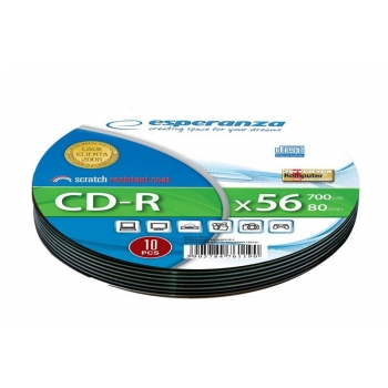 CD-R ESPERANZA [ Soft Pack 10 | 700MB | 52x | Silver ]