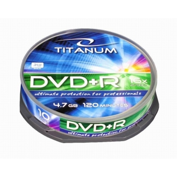 DVD+R TITANUM [ cake box 10 | 4.7GB | 16x ]