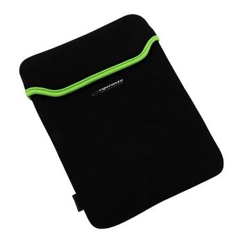 ESPERANZA Geanta pentru Tablet 9,7'' 4:3 ET172G| Negru / Verde | Neopren 3mm