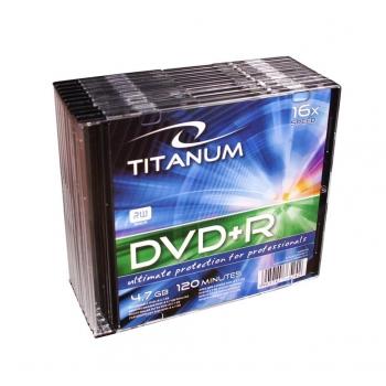 DVD+R TITANUM [ slim jewel case 10 | 4.7GB | 16x ]