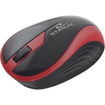 Mouse Wireless Titanum TM113R Butterfly Optic 3 butoane 1000dpi Red 5901299904701