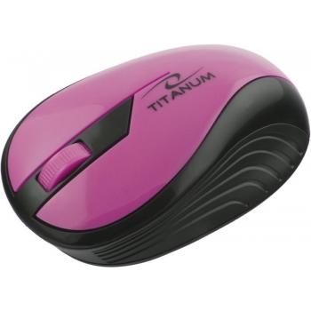 Mouse Wireless Titanum TM14P Rainbow Optic 3 butoane 1000dpi Pink 5901299904787