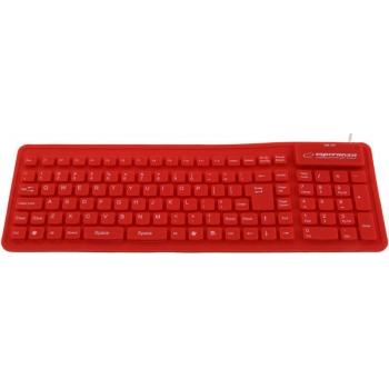 Tastatura Esperanza EK126R silicon OTG flexibil impermeabil white USB 5901299905005