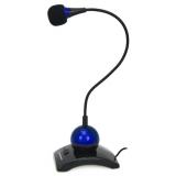 Microfon Esperanza EH130B switch ON-OFF black-blue 5901299929018